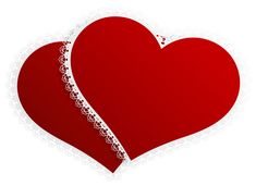 Valentine Double Hearts Decor PNG Clipart Picture