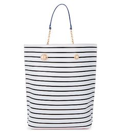 SOPHIA WEBSTER Izzy Nautical Striped Leather Tote. #sophiawebster #bags #leather #hand bags #tote