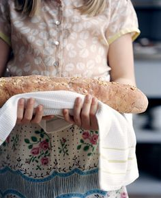 Fresh Bread  --  is it just me, or does the right-hand end of that loaf look like the head of a lizard?!?