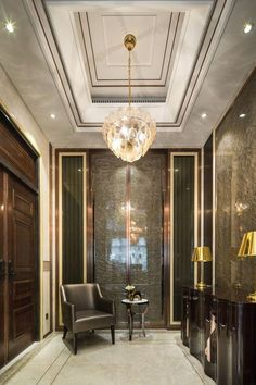 The apartment is usually designed with a modern interior design style but does not rule out the possibility for those of you who want to use a classic interior look, classic interior design can be … Hall Interior Design, Hall Design, Interior Exterior, Interior Architecture, Entrance Design, Small Entrance, Entrance Foyer, Apartment Entrance, Entrance Halls