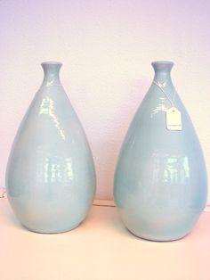 Vintage handgemaakte vazen van colliecollie.  www.dawanda.com