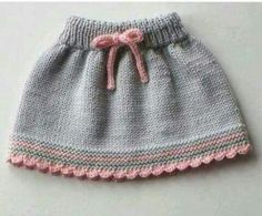Baby skirt knitted baby skirt merino wool skirt grey and pink skirt MADE TO ORDER Knitting For Kids, Baby Knitting Patterns, Hand Knitting, Toddler Skirt, Baby Skirt, New Baby Dress, Dress Girl, Mode Crochet, Summer Dress