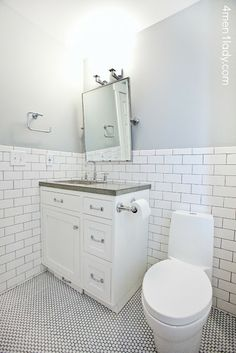 Love this grey for the bathroom --- Half Moon Crest by Benjamin Moore