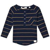 ebbe Kids Walter Grandpa T-Shirt Dark Navy/Gold Stripe Dark navy/gold stripe