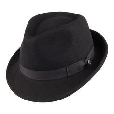 c44fdc96614be Jaxon   James Detroit Trilby Hat - Black