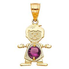 GoldenMine Fine Jewelry Collection 14K Two Tone Gold CZ Flower Heart Charm Pendant