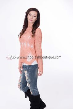 9179a07596 This Knit sweater is a cut above the rest! The details of this top is