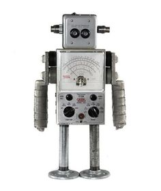 Nerdbots :: General :: Found object robot sculptures for your inner nerd.