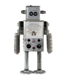 Nerdbots :: General :: Found object robot sculptures for your inner nerd.
