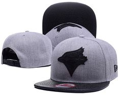Toronto Blue Jays MLB Leather RIP 9FIFTY Snapback Hats Gray/Black only US$6.00 - follow me to pick up couopons.