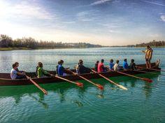 Uscita in barca vichinga! #boat #rowing #viking #barca #vichinga #canottaggio #lake #lago #milano #milan #canottieriolona1894 #succedeinolona #sport #relax #rowers