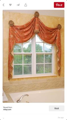 20 ideas bathroom window treatments valance shape for 2019 Decor, House Design, Drapery Designs, Window Decor, Window Styles, Curtains Window Treatments, Arched Window Treatments, Window Curtains, Curtain Decor