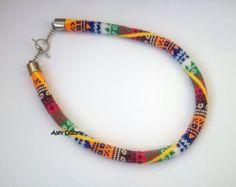 Black Summer Bead Crochet Necklace Black Summer от alevduzen