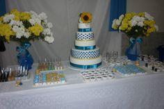 Festa de casamento decoração e bolo decorativo, dia especial