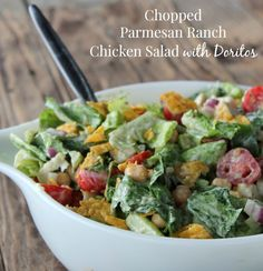 Chopped Parmesan and Ranch Chicken Salad with Doritos 344 calories and 9 weight watchers points plus