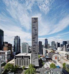 오스트레일리아 멜버른 도심지에 물결 무늬의 인상적인 실루엣을 연출하는 초고층 아파트, MY80(410 Eli...