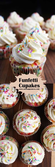 Homemade Funfetti Cupcakes Recipe - (ourhappymess)