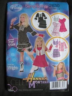 Simplicity 2630 Hannah Montana Girls Pattern Uncut by Vntgfindz