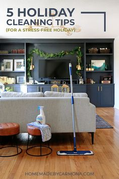 5 Holiday cleaning tips to help get your home holiday ready with as little effort and stress possible!
