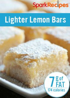 Just because you're on a weight-loss journey doesn't mean you have to skip the sweets! These Lighter Lemon Bars are a decadent treat without all the fat. alli® weight loss aid can help you achieve a healthier you.  Nutrition facts are estimates only.