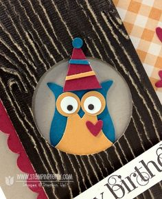 Stampin up stampinup stamp it card stock ideas punch owl coredinations birthday demonstrator