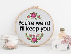 Thrilling Designing Your Own Cross Stitch Embroidery Patterns Ideas. Exhilarating Designing Your Own Cross Stitch Embroidery Patterns Ideas. Cross Stitching, Cross Stitch Embroidery, Embroidery Patterns, Hand Embroidery, Funny Embroidery, Leather Embroidery, Simple Embroidery, Loom Patterns, Cross Stitch Quotes