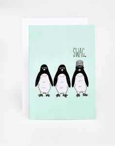 Jolly Awesome Swag Penguins Card