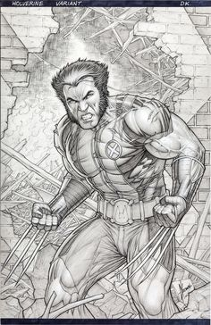 Original cover art by Dale Keown from Wolverine #304, published by Marvel…