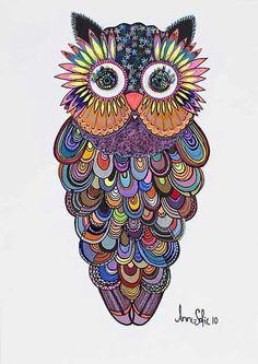 Owlish colour.