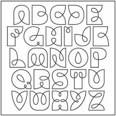 Alphabet font to use for Zentangle strings - what a great idea! Doodle Lettering, Creative Lettering, Lettering Styles, Lettering Tattoo, Lettering Ideas, Graffiti Lettering, Brush Lettering, Calligraphy Letters, Typography Letters