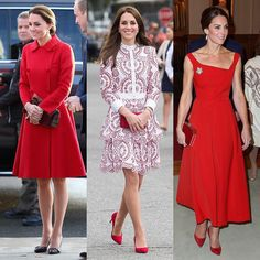 ❤️ | #Repost @people_style: 🇨🇦❤️ #PrincessKate is dressing on theme for the Royal tour of Canada, and we are all for it. 📷: @gettyimages