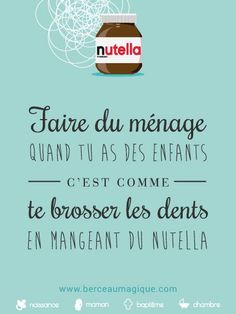 Citation gourmande #nutella #berceaumagique #enfants