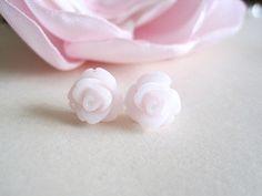 Angel Rose Post Earrings by priya123 on Etsy, $7.00