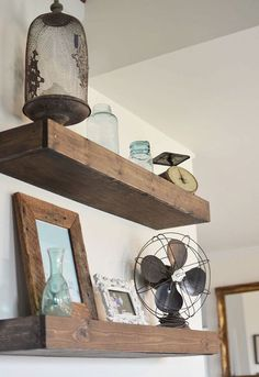 diy floating shelves, shelving ideas, woodworking projects