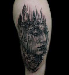 Architecture Tattoos - Tattoo Done By Tony Mancia