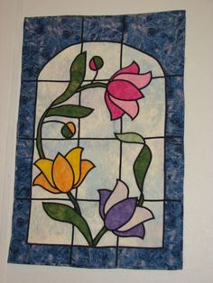 stained glass quilts - Google Search
