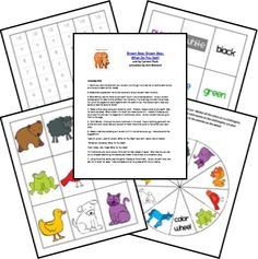 Grundschule Englisch: Printables Brown Bear Brown Bear what do you see - Eric Carle Preschool Literacy, Preschool Books, Homeschool Kindergarten, Eric Carle, Language Activities, Book Activities, Rhyming Activities, Bear Theme, Library Lessons