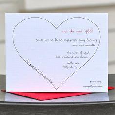 Engagement Party Invitations / Bridal Shower Invitations / Engagement Invites - He Popped The Question. $18.00, via Etsy.