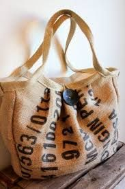 cool things to make from coffee bean bags - Google Search
