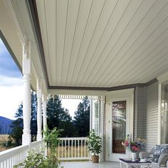 Beaded Vinyl Soffit And Porch Ceiling Various Porch