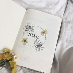May Bujo Cover Page Bee Theme