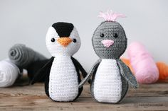 The Simple Amigurumi Penguin pattern is a free crochet pattern made only from the basic chain and single crochet stitches, making it a great option for beginners! Pieces are created in rows and then stitched together per instructions. It's also super easy to add your own personal design touches!