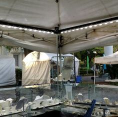 Booth ideas antique fairs and show booth on pinterest for Battery operated lights for craft booth