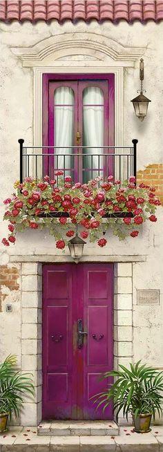 10 more pins for your paper – decoupage board - Art Painting The Doors, Windows And Doors, Plant Texture, Unique Doors, Garden Architecture, Doorway, Entrance, Garden Design, Home And Garden