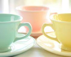 Tasses pastels