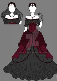 Fashion Design Sketches 796011302869973834 - SEBASTIAN X OC. A love story between a protector and a devourer. Clothing Sketches, Dress Sketches, Dress Drawing, Drawing Clothes, Fashion Design Drawings, Fashion Sketches, Anime Outfits, Cool Outfits, Modelos Fashion