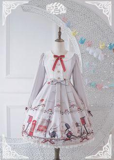 Pink Up -Bunnies In London- Sweet Lolita OP Dress