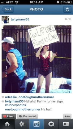 Funny Running Signs #raceready #running http://www.raceready.com