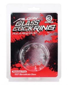 Falcon Glass Cockring 40mm Clear