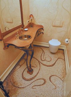 So Art Nouveau, need to find a toilet that is more compatible style wise though...